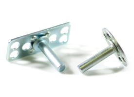 Veck male M4 plain pin bonding fasteners