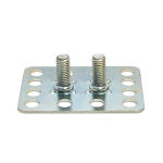 a twin male threaded stud assembly extended range fastener