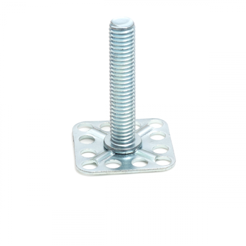 a Mild Steel (BZP) bonding fastener consisting of a male threaded stud on a 30x30mm square base plate.
